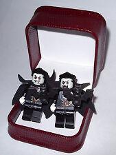 HAND MADE VAMPIRE BAT  LEGO CUFFLINKS W BEAUTIFUL JEWELRY BOX