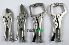 4 pc Mini Locking Vice Pliers Grip Set High Carbon Steel