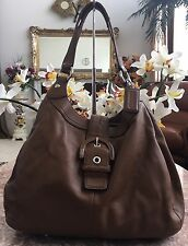 Coach Soho Brown Luggage Leather Large Lynn Shoulder Bag Hand Bag F17092 EUC