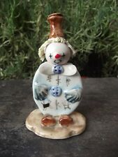 Hand Crafted Zampiva Italy Pottery Clown Figurine Ornament Yellow Spaghetti Hair