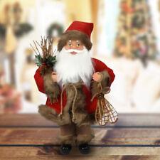 Babbo Natale Nordico In Plastica Vestiti In Tessuto 30cm Decorazione Natalizia