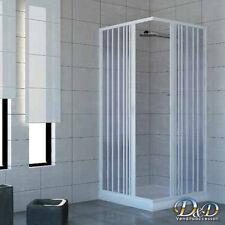 Box doccia 75X75 cabina angolare a soffietto bagno in pvc anche su misura
