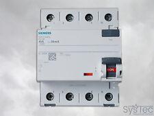 FI-Schutzschalter 4 polig, FI-Schalter, FI 40A , FI 40A 0,03 RCD Siemens