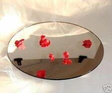 "12 ""  MIRROR ACRYLIC CAKE PLATE DISPLAY STAND WEDDING"
