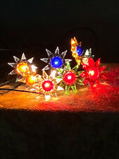 1930 s C-6 Matchless Star complete Strand of 8 Lights Working