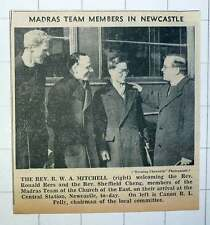 1939 Rev Rw Mitchell Welcomes Ronald Rees And Sheffield Cheng Madras Team Church