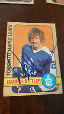 1972-73 OPC SIGNED CARD DARRYL SITTLER TORONTO MAPLE LEAFS RED WINGS FLYERS 188