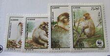 1988 Algeria SC #872-75 MACACA SYLVANUS MNH stampS