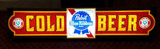 Pabst Blue Ribbon Lighted Cold Beer Sign Vintage from Wilmington Nc