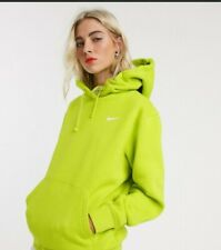 Nike Women's Fleece Oversized Green Lime Hoody Size Small
