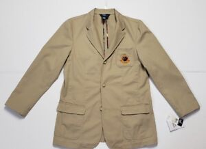 NWT RALPH LAUREN POLO BOYS CHINO JACKET KHAKI L(16/18) /XL #69