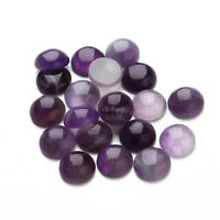 10pcs/lot 6-12mm Natural Amethyst Stone Cabochons Beads Flatback Domes Cameo