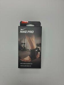 Nike Pro Ankle Sleeve 2.0 Black Size Large
