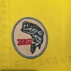 Vintage ZEBCO Fishing Lure Cloth Patch