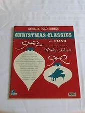 Schaum Solo Series Christmas Classics For Piano Music Book