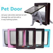 4 Way Pet S M L Cat Puppy Dog Magnetic Lock Lockable Safe Flap Door Gate Frame