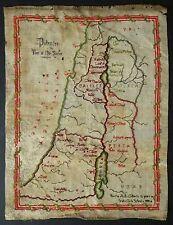 1888 Victorian Palestine Map Large Sampler Bertha Gilbert Stoke Girls School