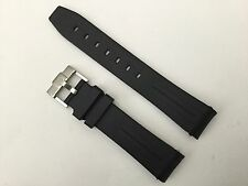 QUALITY SILICON RUBBER 20MM WATCH STRAP For ROLEX SUBMARINER WITH BLACK STRIPE