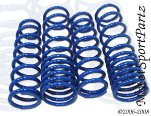 Blue Lowering Springs (4pcs Front & Rear) Mazda RX7 FD 1993 1994 1995 1996 1997