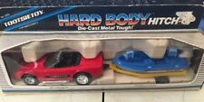 Tootsietoy Hard Body Hitch-Ups Red Corvette Trailer bass boat Tootsie Toy(3D