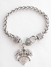 Mom Mother Love Children Gift Jewelry Silver Letter Open Bangle Bracelet
