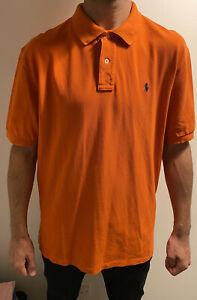 Ralph Lauren Polo Shirt Orange XL Extra Large Short Sleeve