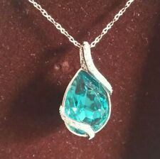 BNIB Italina Pendant Necklace 18k Plated Style Number 788949, Cost £66, Blue.