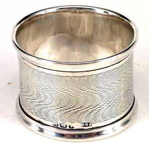 SILVER NAPKIN RING 1920 HALLMARKED STERLING BY F. R. GOMM