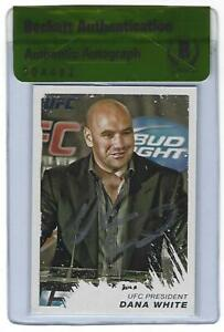 Dana White Signed 2011 Topps UFC Moment of Truth Card 220 BAS Beckett COA Auto'd