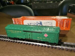 Lionel Post War 0/027 # 6572 REA Boxcar, In Exc Cond, Org Box 1963 Only Unrun