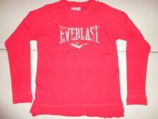 Maroon Everlast Distressed Logo Thermal Cotton Long Sleeve  Shirt Adult M