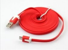 3.3FT Noodle Flat Micro USB Sync Data Charger Cable Cord For Mobile Smart Phone