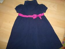 GYMBOREE DRESS SIZE 3 YEARS WINTER FALL CHURCH NAVY PREPPY POODLE PINK BOW