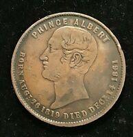 1861 New Zealand  Token: Prince Albert Died Dec 1861 Auckland