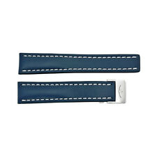 Breitling Strap Blue Leather 20-18mm BT115X-A18D