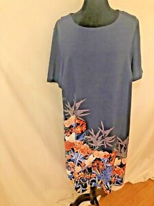 jaclyn smith xxl 2XL short sleeve plus size tropical floral dress not lined