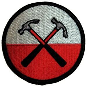 Pink Floyd The Wall Hammers iron-on/sew-on cloth patch 75mm round  (cv)