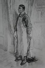 GAVARNI Lithographie originale série PHYSIONOMIES PARISIENNES - COCHER A DEUX ..