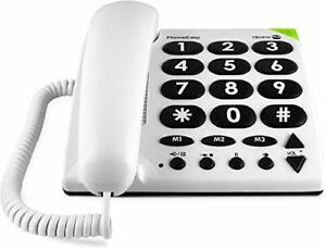 Doro PhoneEasy 311c Big Button Corded Telephone for Seniors (White)