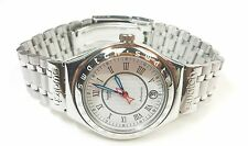 Swatch Swiss Irony 40mm Automatic 23 jewels Skeleton AG-1996, Date SS Mid Size