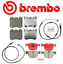 Front Brake Pads & Rear Brake Pads Ceramic OEM Brembo +Sensor BMW X5 X6 M 2010