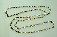 60 cm  HALSKETTE GOLDKETTE HERRENKETTE  750 GOLD 18KT  *bicolor*  NEU  sehr EDEL