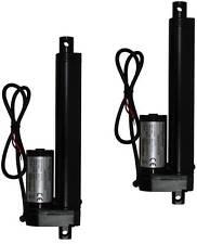 """2 pcs Two Pieces 6"""" 6 Inch Linear Actuator Stroke 225 Lb Pound Lift 12V Volt DC"""