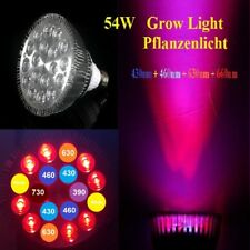 54W Led Pflanzen Lampe Grow Light 7 Band 6500K Voll Spektrum E27 Full Spectrum