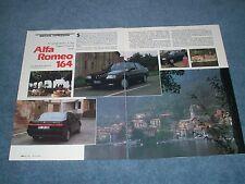 1988 Alfa Romeo 164 Vintage Driving Impression Info Article