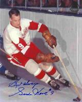 GORDIE HOWE - 2 PHOTOS  ( D RED WINGS ) -  EXCELLENT 5 x 7 SIGNED PHOTO REPRINTS