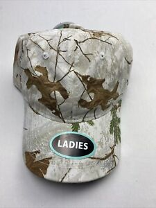 Realtree Hunting Unstructured Ladies Baseball Style Hat, Xtra Snow, Adult
