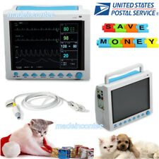 VET ICU CCU Veterinary PATIENT MONITOR ECG SPO2 PR NIBP RESP TEMP USA FDA 2018
