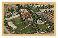 1940s Royal Palms Inn Phoenix Arizona AZ Linen Postcard Aerial View Curteich