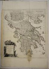 GREECE 1778 D'ANVILLE & SANTINI ANTIQUE ORIGINAL COPPER ENGRAVED MAP